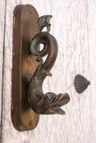 Drzwiowego knocker ryba kształtująca Zdjęcie Royalty Free