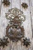 Drzwiowego knocker smok kształtujący Zdjęcia Royalty Free