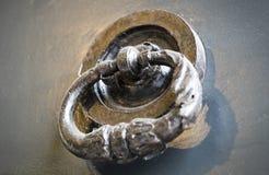 Drzwiowego knocker zakończenie Zdjęcie Stock