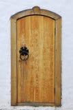 drzwiowego monasteru stary drewniany Zdjęcia Stock