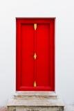 drzwiowego pho czerwony Thailand wat Zdjęcie Stock