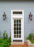 drzwiowego rocznika biały drewniany Obrazy Stock