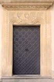 drzwiowego starego ornamentu kamienna ściana Zdjęcie Royalty Free