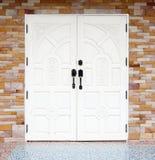 drzwiowego texuture biały drewniany Obrazy Royalty Free