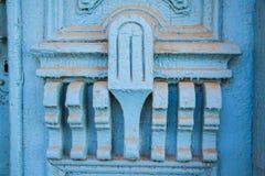 Drzwiowego zawiasu błękit Fotografia Stock