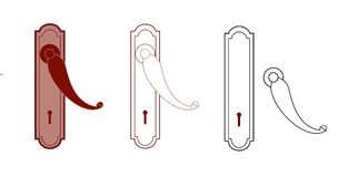 drzwiowej rękojeści keyhole Zdjęcia Royalty Free