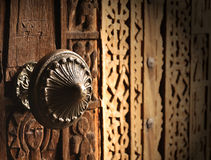 drzwiowej rękojeści metal stary zdjęcia stock