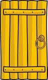 drzwiowej rękojeści szalunek drewniany Zdjęcia Stock