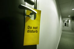 drzwiowej rękojeści znak Fotografia Royalty Free