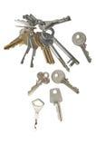 Drzwiowi klucze Fotografia Stock