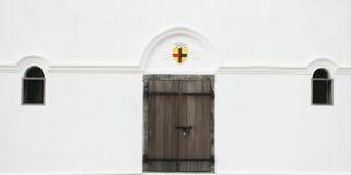 drzwiowi starzy okno Zdjęcia Stock