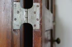 Drzwiowi zawiasy fotografia royalty free