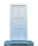 drzwiowy biały drewniany Fotografia Royalty Free