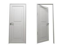 drzwiowy biel Obraz Stock