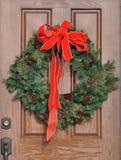 drzwiowy Boże Narodzenie wianek Zdjęcie Stock