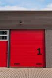drzwiowy czerwony magazyn Obraz Royalty Free