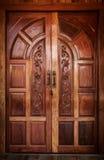 Drzwiowy drewniany nowożytny Obraz Royalty Free
