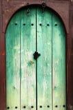 Drzwiowy drewniany rocznik Obrazy Stock