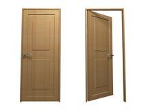 drzwiowy drewno Fotografia Stock