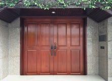 Drzwiowy drewno Obraz Royalty Free