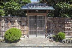drzwiowy japoński tradycyjny zdjęcia stock
