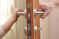 drzwiowy kędziorek Zdjęcia Stock