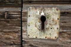 Drzwiowy kędziorek i kluczowa dziura Zdjęcie Royalty Free