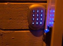 Drzwiowy kodu kędziorek Zdjęcie Stock