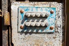 Drzwiowy kodu kędziorek Obraz Stock