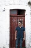 drzwiowy mężczyzna Fotografia Royalty Free