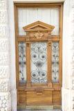 drzwiowy masywny drewniany fotografia royalty free