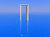 drzwiowy morze Fotografia Royalty Free