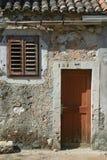 drzwiowy nadokienny drewniany Obrazy Royalty Free