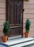 drzwiowy nowożytny drewniany Zdjęcia Royalty Free