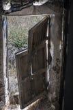 Drzwiowy okno zdjęcia royalty free