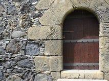 drzwiowy średniowieczny drewniany Obrazy Stock
