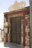 drzwiowy restauracyjny drewniany Obrazy Royalty Free