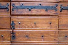 drzwiowy retro drewniany Obraz Royalty Free