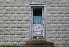 drzwiowy stary biel Obrazy Royalty Free