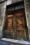 drzwiowy stary drewniany Obraz Stock