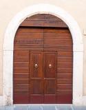 drzwiowy stary drewniany Zdjęcia Royalty Free