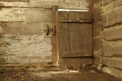 drzwiowy stary drewniany Obraz Royalty Free
