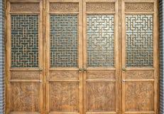 drzwiowy stary drewno Obraz Stock