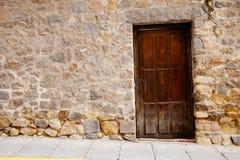 drzwiowy stary kamienny bardzo ścienny drewniany Zdjęcia Royalty Free