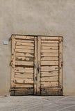 drzwiowy stary kolor żółty Zdjęcia Royalty Free