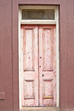drzwiowy stary różowy drewniany Zdjęcia Royalty Free
