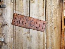 drzwiowy stary znak Obraz Stock