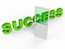 Drzwiowy sukces Wskazuje zwycięzców 1St I drzwi Zdjęcia Royalty Free