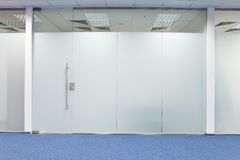 drzwiowy szklany biuro Obrazy Royalty Free