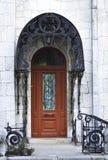 drzwiowy wewnętrzny drewniany Zdjęcia Royalty Free